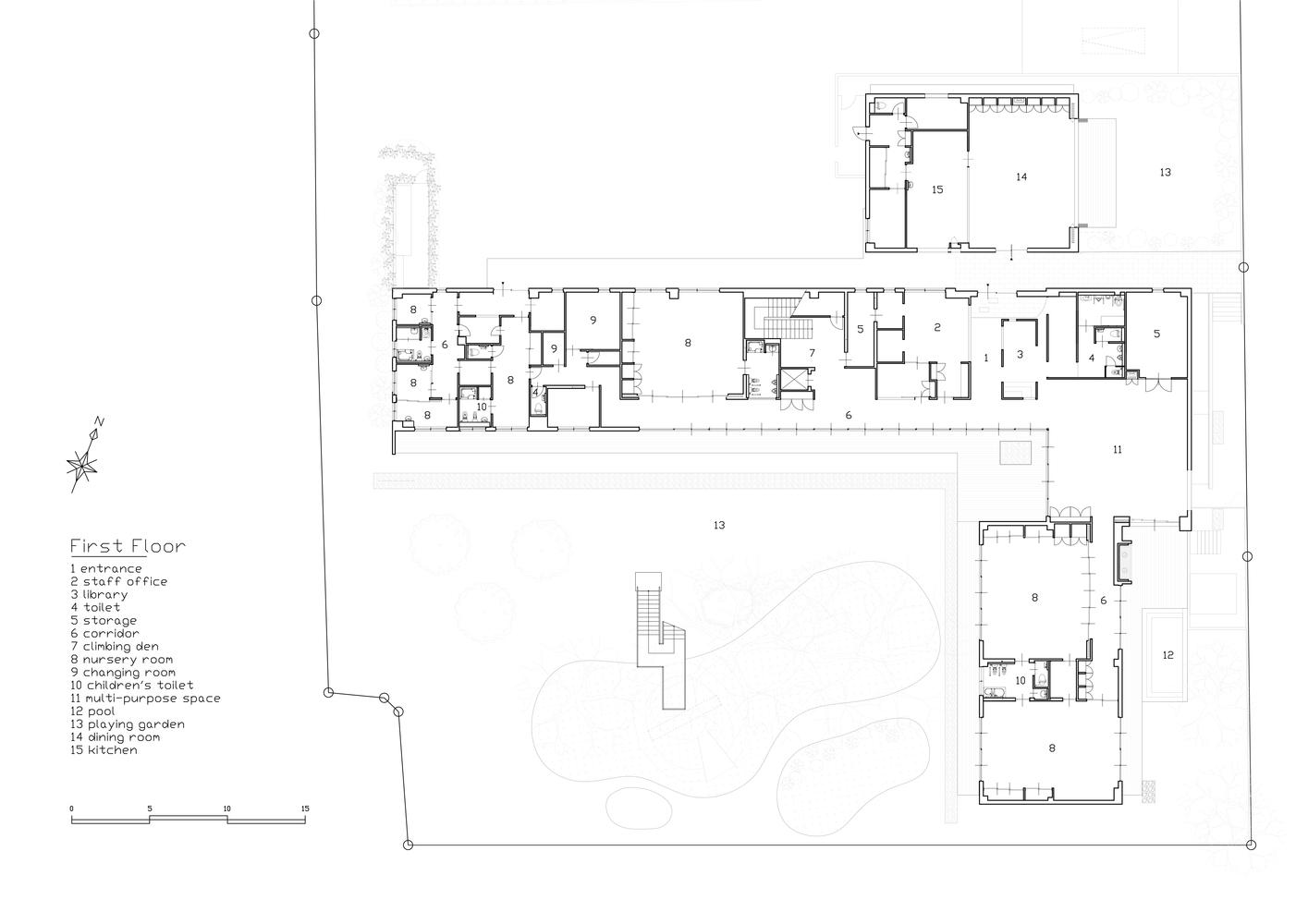 Hình ảnh bản vẽ thiết kế mặt bằng tầng 1