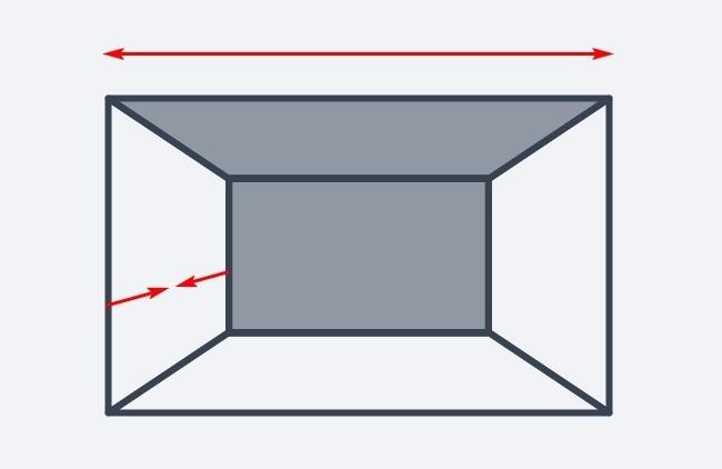 Hình ảnh minh họa cho việc sử dùng cùng một tông màu cho trần và tường phía sau để tạo cảm giác rộng rãi hơn cho căn phòng