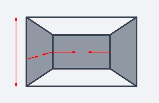 Hình ảnh minh họa cho việc gia tăng chiều cao cho căn phòng