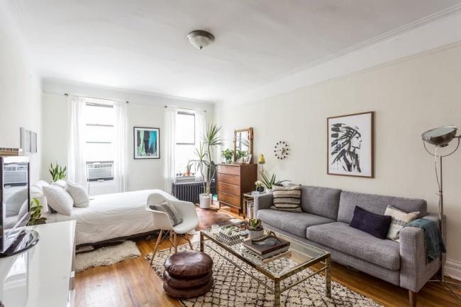 17 cách để biến một studio chật chội thành căn hộ rộng thoải mái và ấm cúng