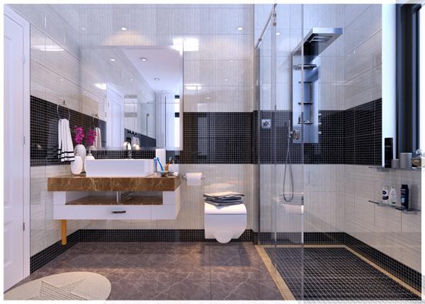 Hình ảnh khu vực bồn rửa mặt trong phòng vệ sinh VIP