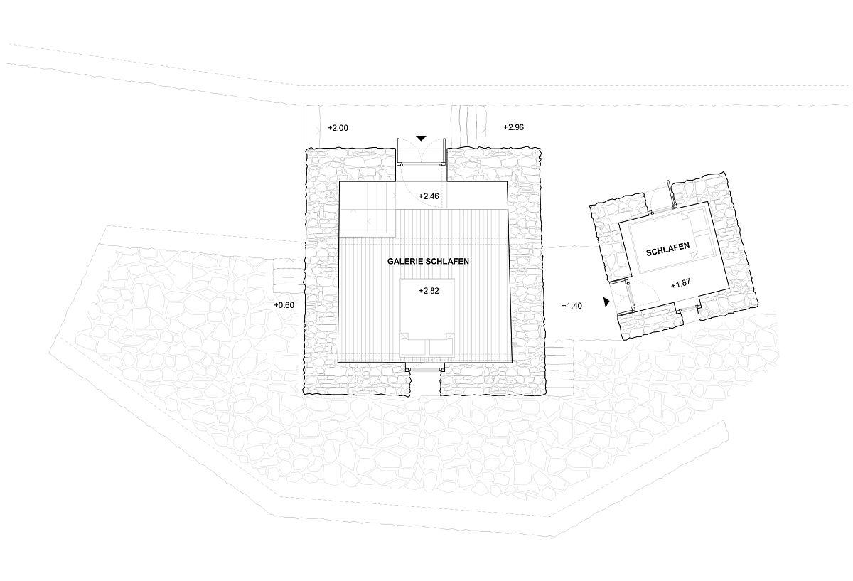 Hình ảnh mặt bằng thiết kế tầng trên nhà nghỉ dưỡng