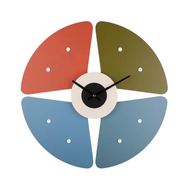 hình ảnh mẫu đồng hồ treo tường hình cánh hoa màu sắc