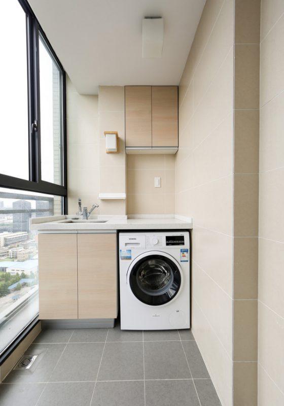 hình ảnh góc giặt phơi ở ban công căn hộ chung cư
