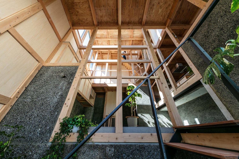 hình ảnh các tầng trên ngôi nhà 69m2 nhìn từ tầng trệt