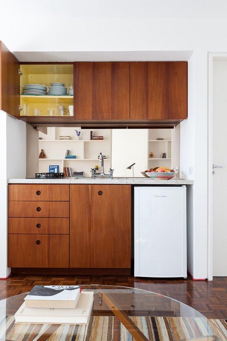 hình ảnh gian bếp trong căn hộ nhỏ 30m2