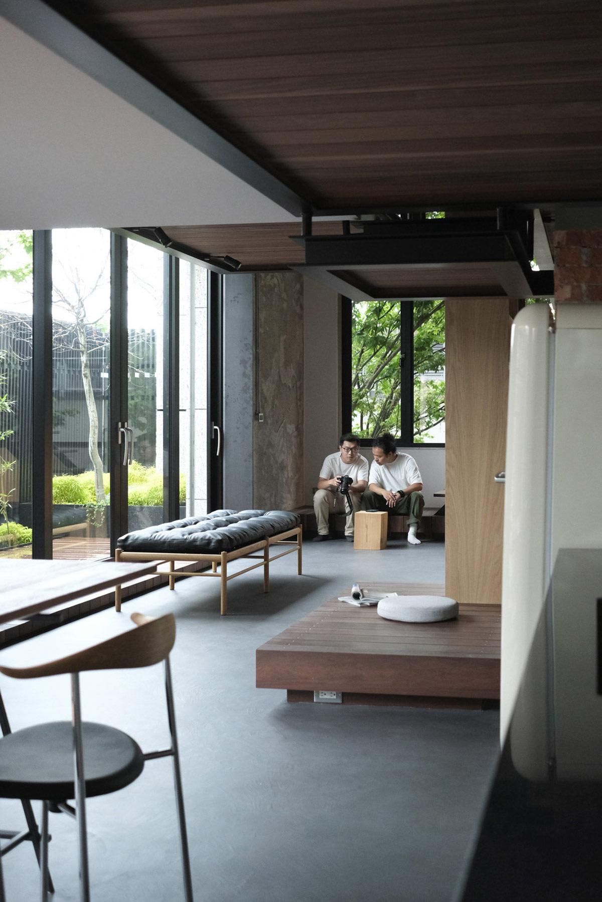 hình ảnh không gian tầng trệt ngôi nhà Nhật