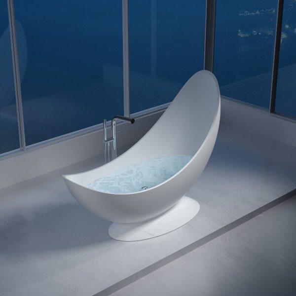 hình ảnh cận cảnh mẫu bồn tắm uốn cong như trăng khuyết