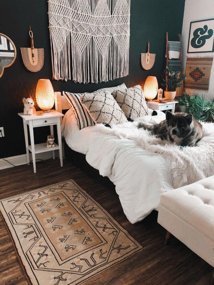 phòng ngủ được trang trí theo sở thích cá nhân