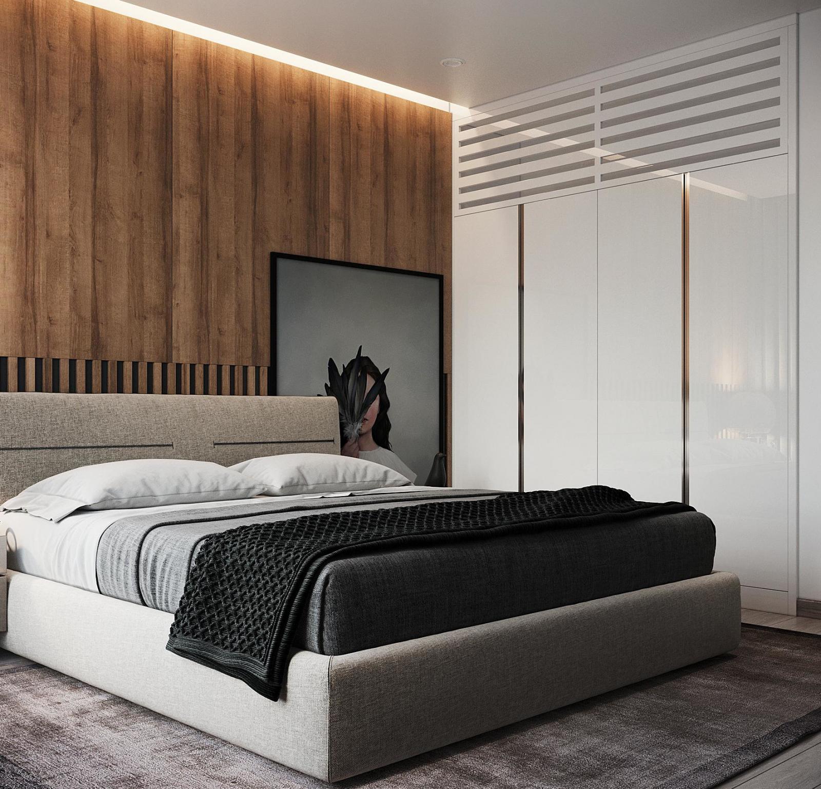 hình ảnh toàn cảnh phòng ngủ của chuyên gia bắt ma Lê Hoàng Nam