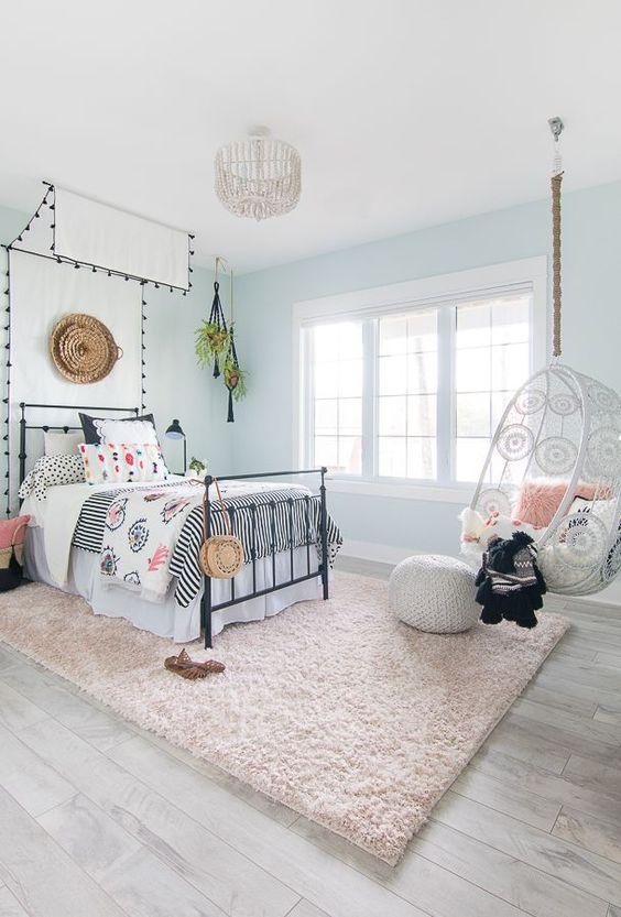 hình ảnh mẫu phòng ngủ tuổi teen phong cách Boho