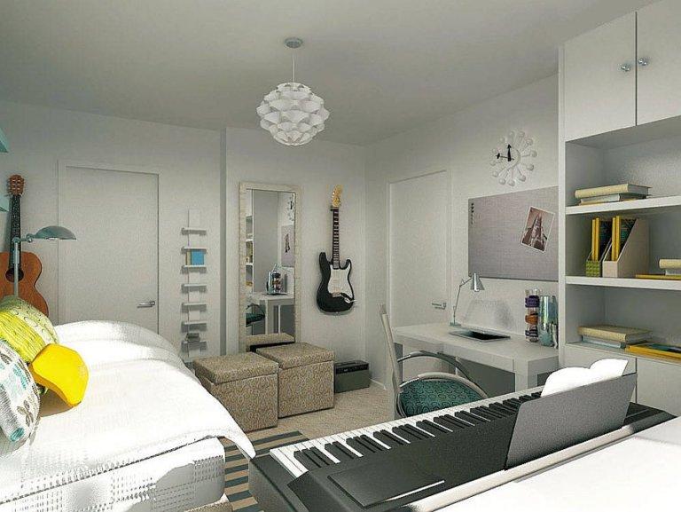 hình ảnh phòng ngủ tuổi teen phong cách đương đại