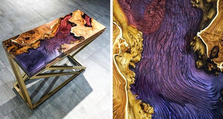 hình ảnh mẫu bàn với bề mặt mô phỏng dòng chảy màu sắc