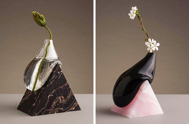 hình ảnh bình hoa thể hiện chính xác dòng chảy của giọt nước.