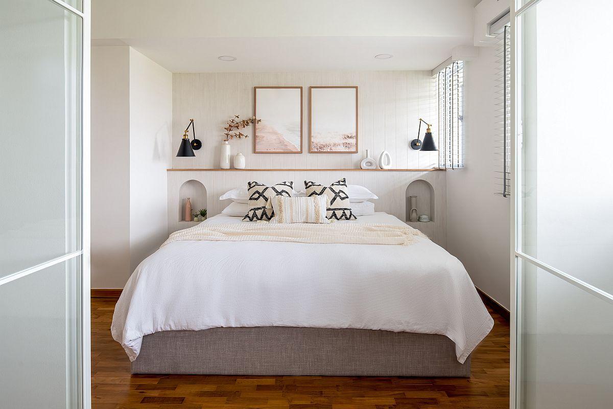 hình ảnh phòng ngủ mùa thu với tường đầu giường decor đẹp