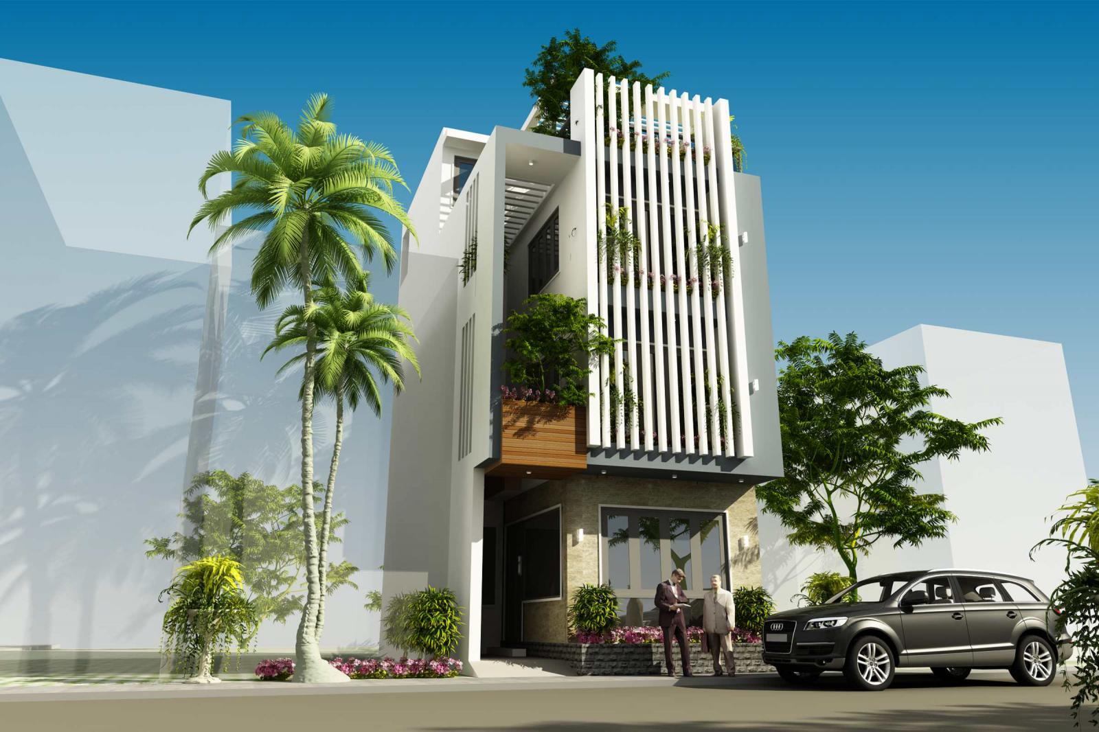 Kiến trúc sư tư vấn thiết kế nhà ống 3,5 tầng trên đất rộng 70m2