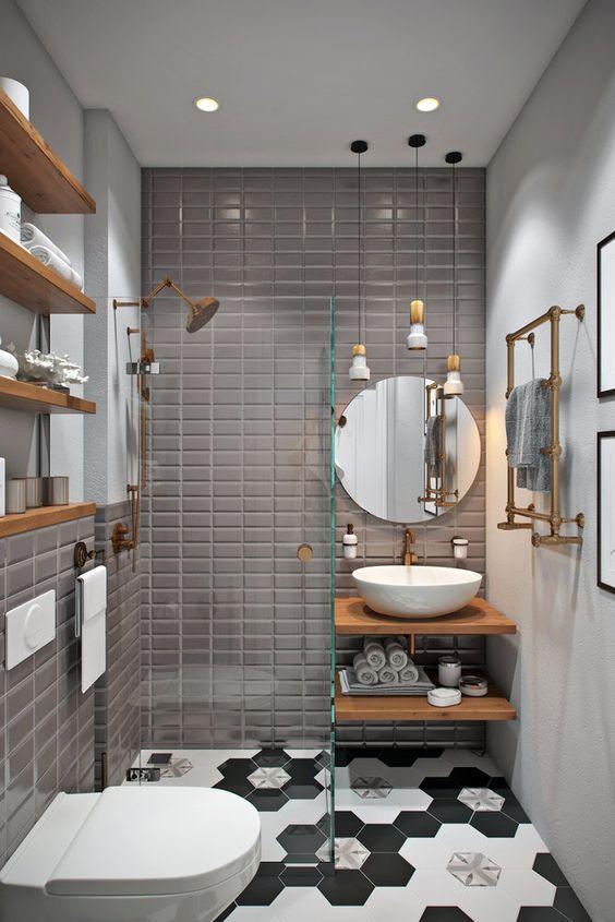 hình ảnh phòng tắm nhà ống 3,5 tầng
