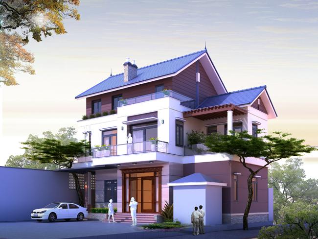 hình ảnh mẫu thiết kế biệt thự 3 tầng đẹp