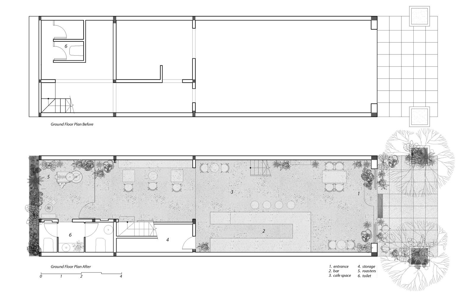 Mặt bằng bố trí nội thất tầng 1