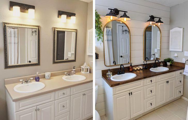 Cải tạo nhà tắm với các yếu tố thiên về màu sắc tự nhiên thường được ưa chuộng hơn.