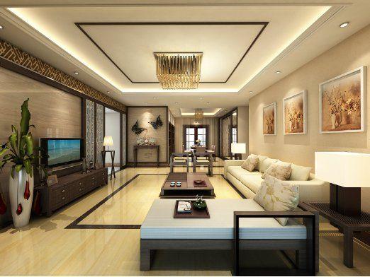 Thiết kế phòng khách rộng rãi, sang trọng, liên thông với khu bếp nấu và phòng ăn.