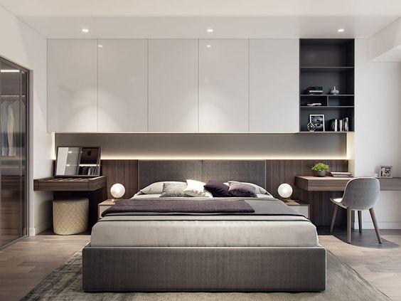 Mẫu phòng ngủ master màu trung tính nhã nhặn, sang trọng mà bạn có thể tham khảo.