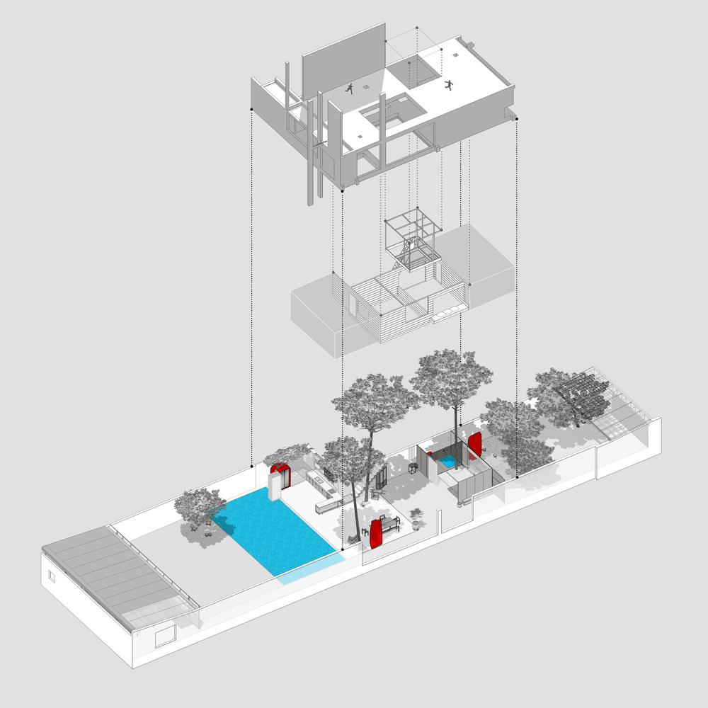 Phối cảnh cấu trúc ngôi nhà 2 tầng ở Thủ Dầu Một