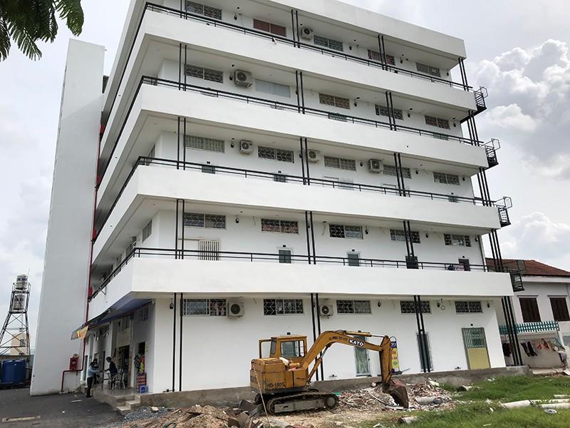 hình ảnh một tòa chung cư mini đã hoàn thiện và đi vào sử dụng