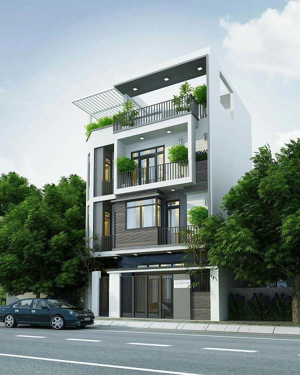 Phối cảnh 3D mẫu thiết kế nhà ở 2 trong 1 phổ biến nhất hiện nay