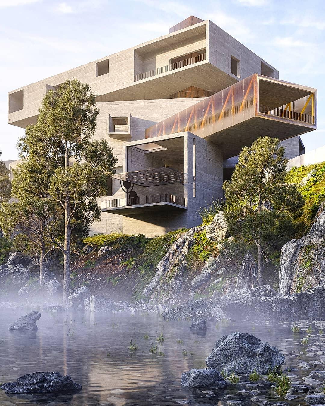 """Mỗi phần của tòa nhà đều hướng đến việc """"hấp thụ"""" một khía cạnh khác nhau của cảnh quan thiên nhiên bao quanh."""