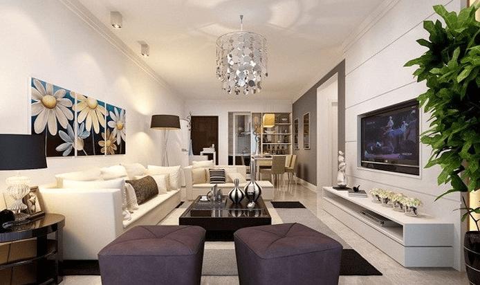 Thiết kế nội thất phòng khách đẹp cần đảm bảo sự hài hòa với tổng thể không gian chung.