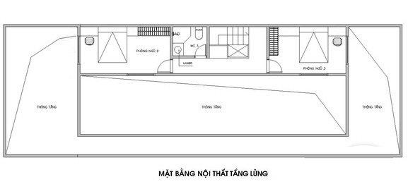 Mặt bằng thiết kế tầng lửng nhà vườn mái Thái