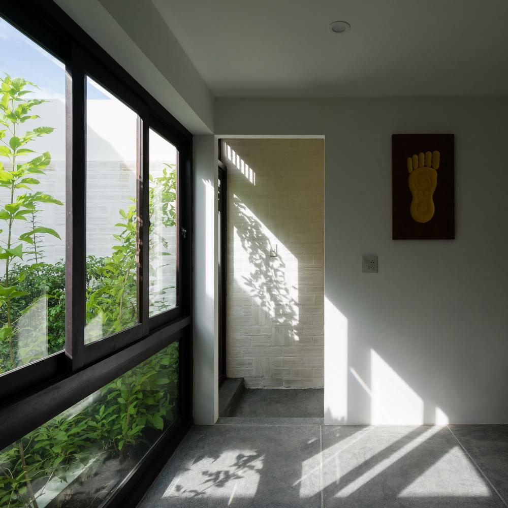 Ánh nắng mặt trời len lỏi vào mọi ngóc ngách trong nhà.