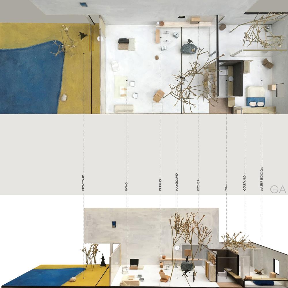 Phối cảnh thiết kế nội thất Ma house