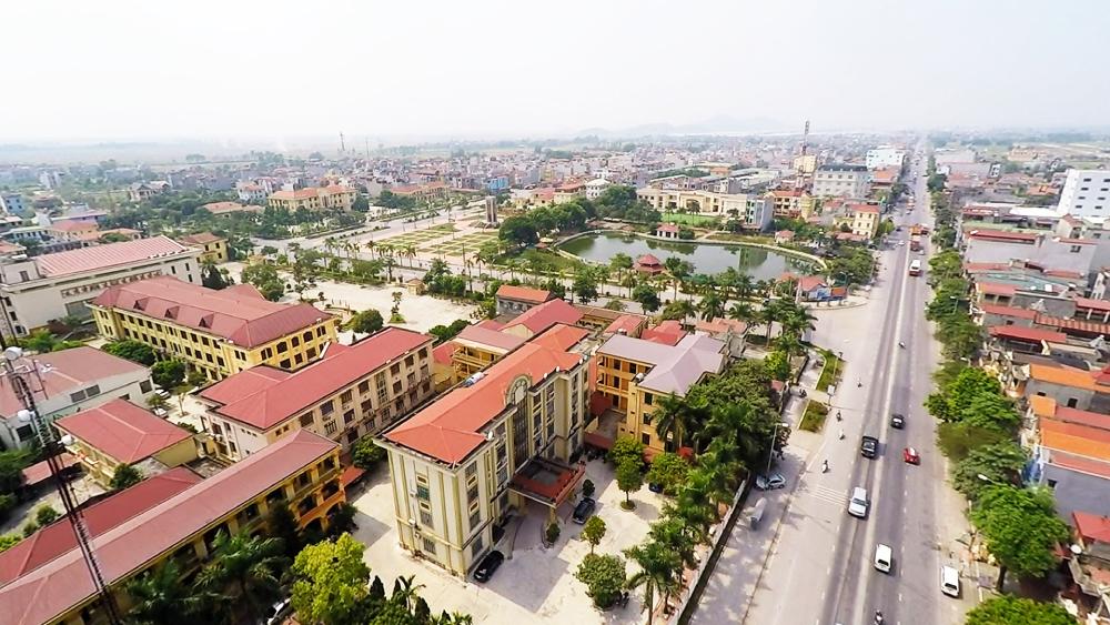 hình ảnh một góc huyện Quế Võ, tỉnh Bắc Ninh nhìn từ trên cao