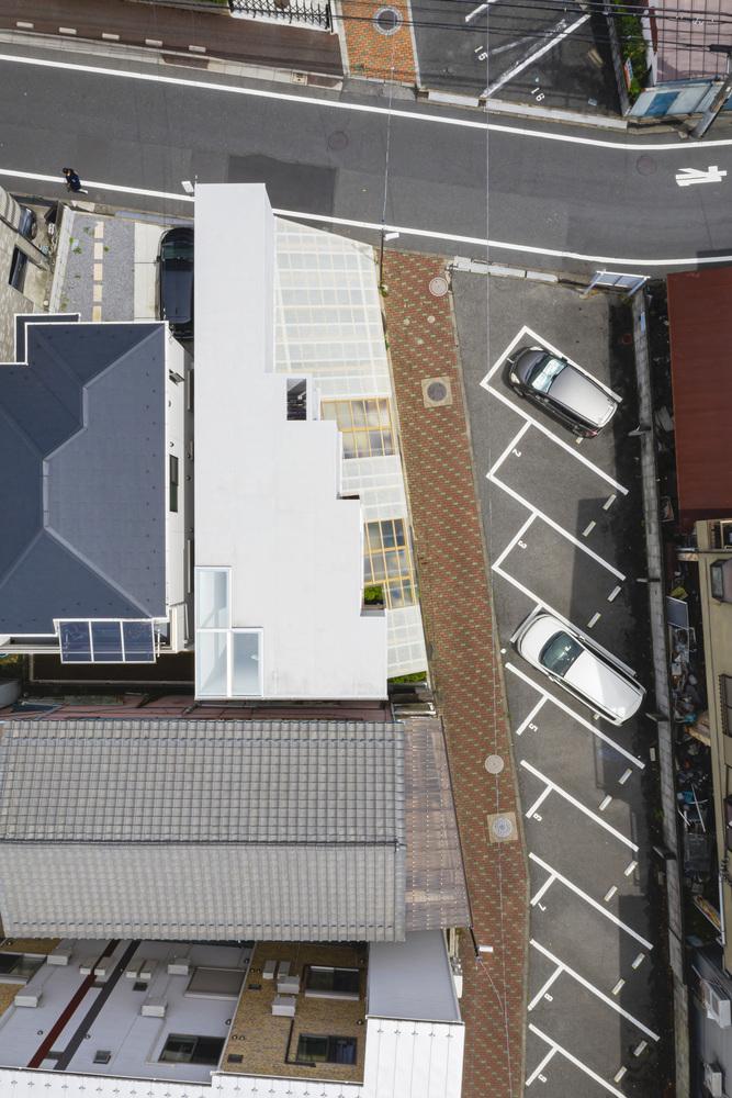 hình ảnh ngôi nhà 2 tầng nhìn từ trên cao