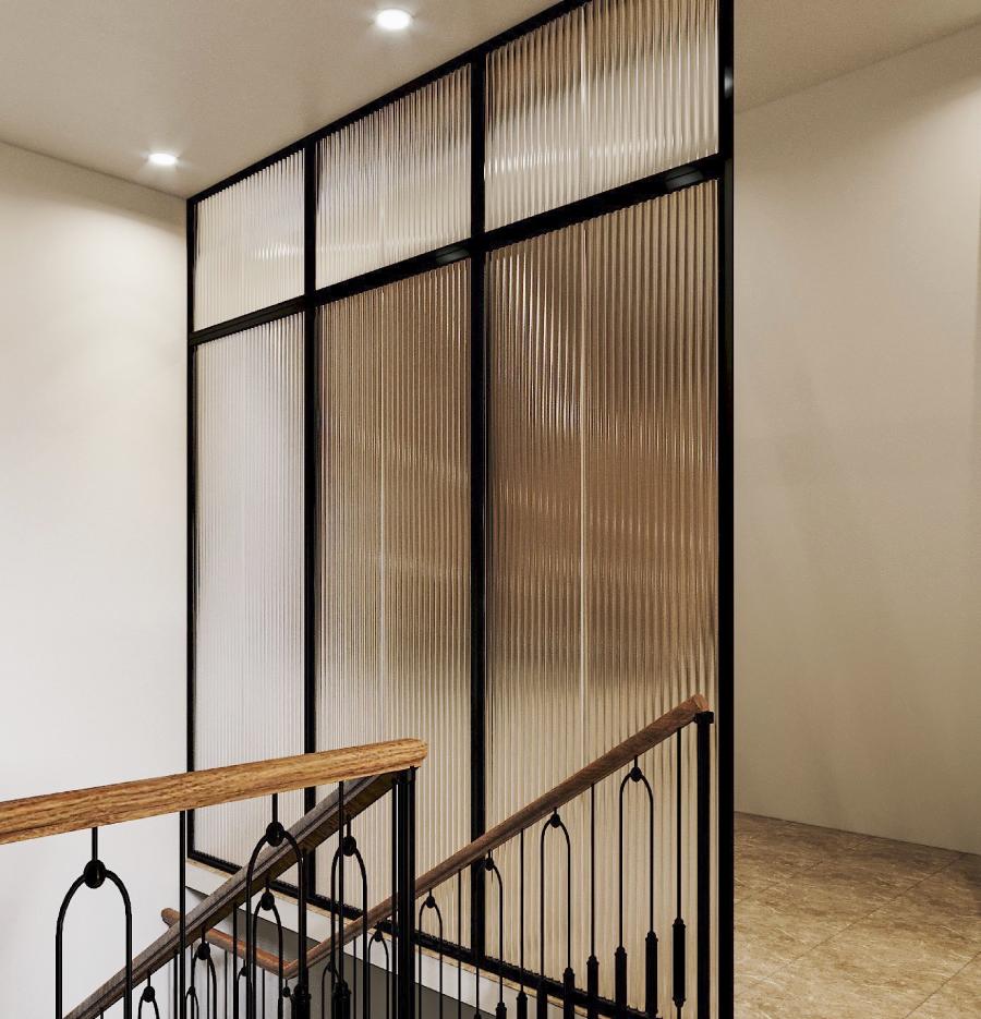 Hành lang, cầu thang được thiết kế theo tiêu chí đảm bảo an toàn và tính thẩm mỹ.