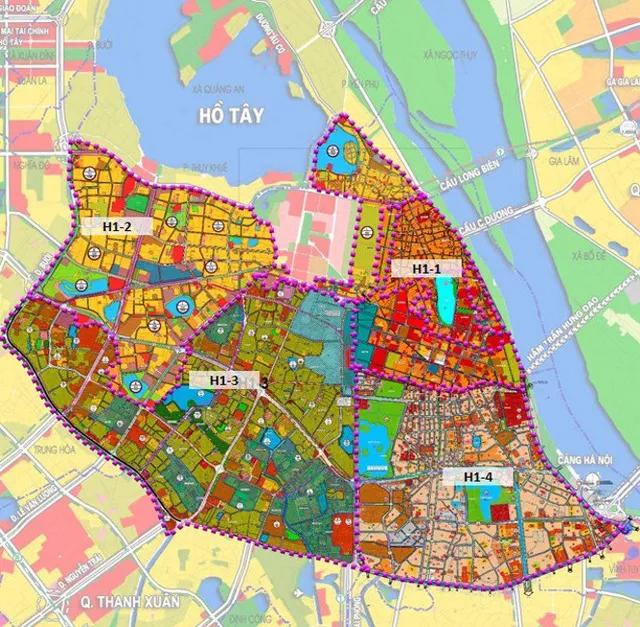 Hà Nội công bố quy hoạch phân khu đô thị 4 quận nội đô lịch sử