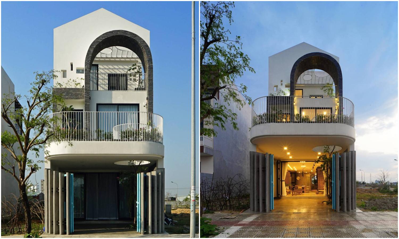 Nhà đẹp Đà Nẵng với không gian sống chan hòa nắng gió, cây xanh