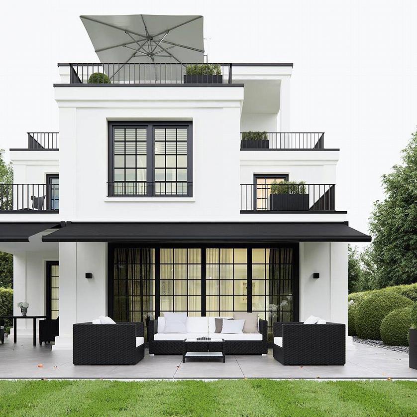 Mẫu biệt thự mini phong cách hiện đại, sang trọng với tông màu đen - trắng hút mắt.