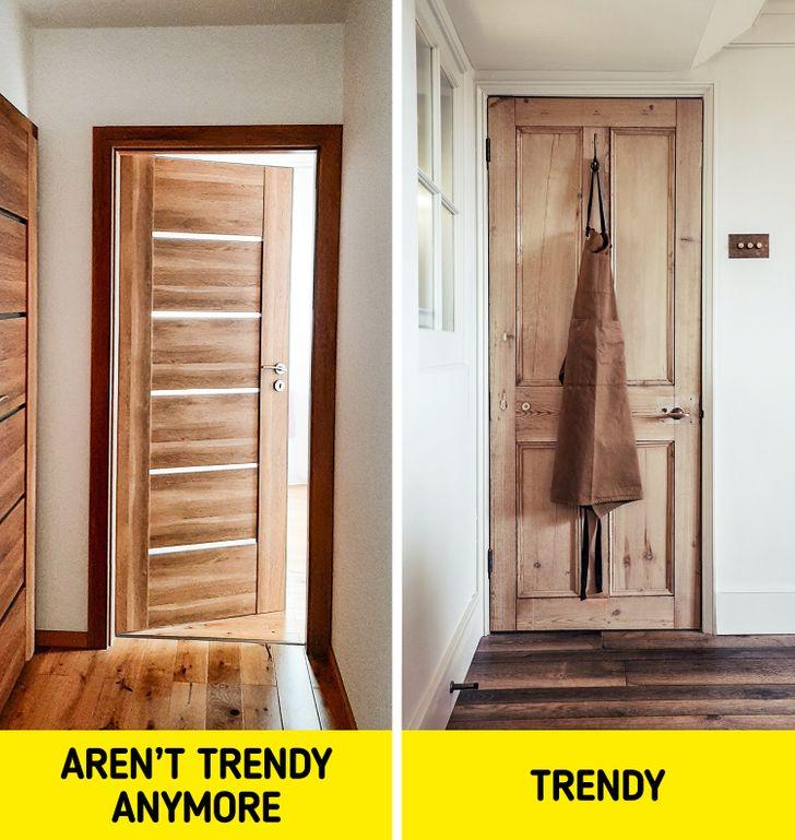 hình ảnh cận cảnh các khung cửa cửa gỗ