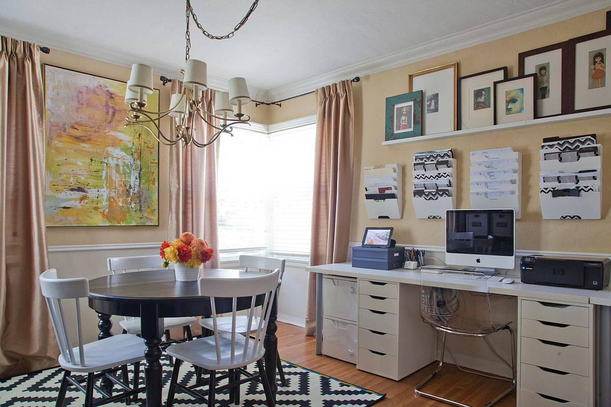 Văn phòng tại nhà và phòng ăn dễ dàng trở thành một trong ngôi nhà hiện đại.