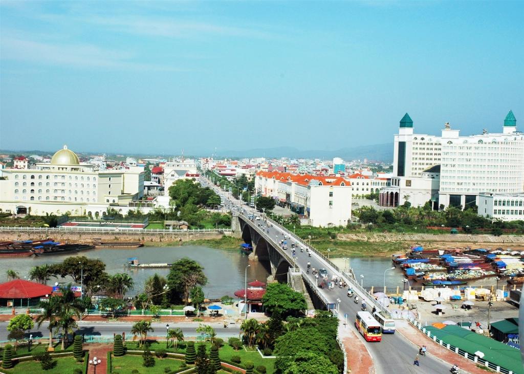 hình ảnh một góc TP. Móng Cái, tỉnh Quảng Ninh