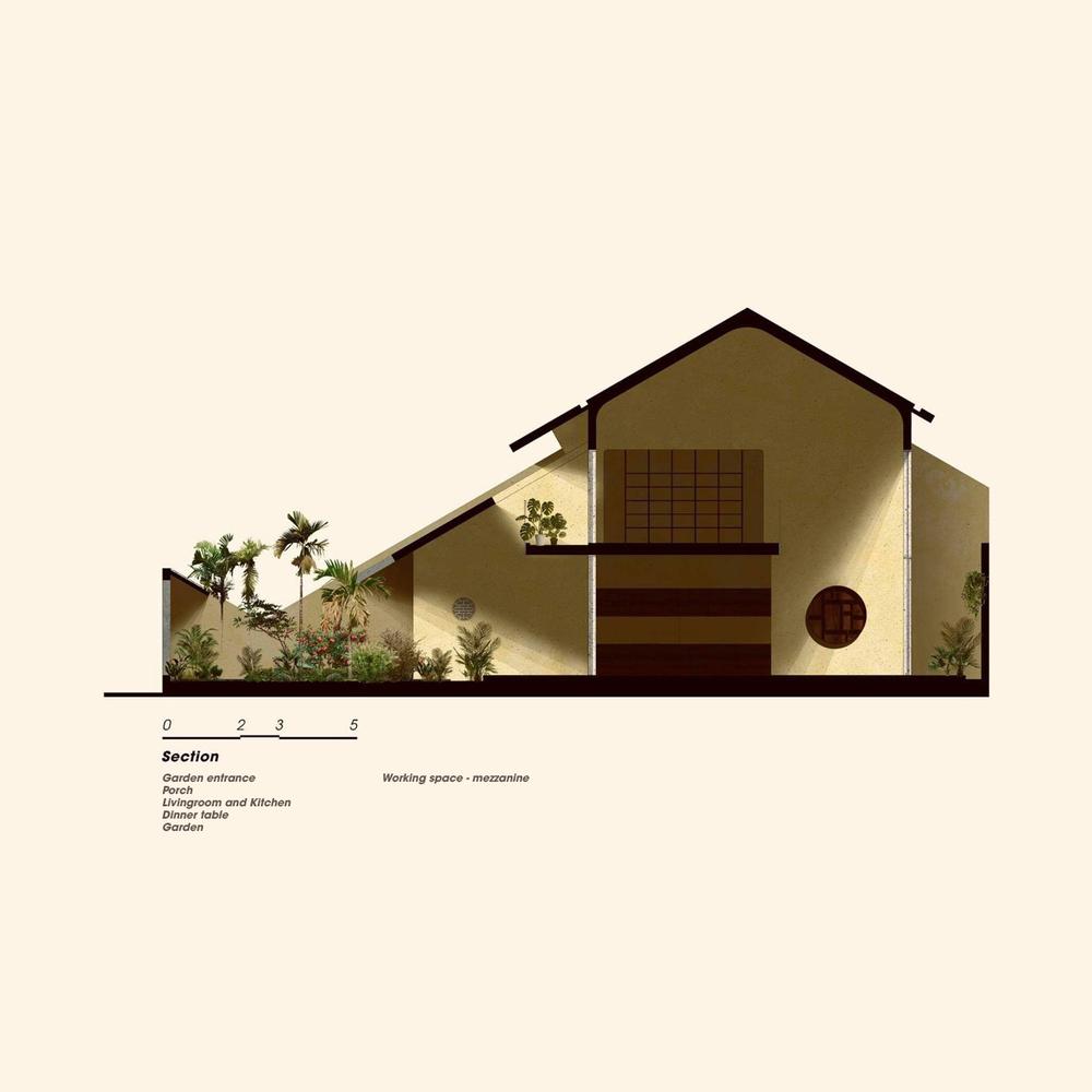 Phối cảnh mặt tiền ngôi nhà