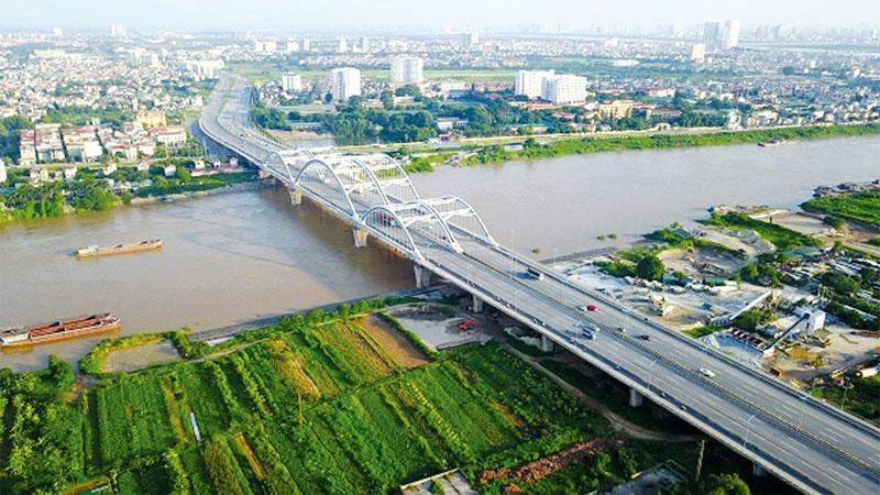 Cầu Đông Trù kết nối huyện Đông Anh với trung tâm Thủ đô Hà Nội.