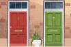 Chọn màu sắc cửa chính như thế nào cho hợp phong thủy?