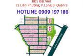 Cần bán đất nền nhà phố dự án Hưng Phú 2, Quận 9, dt 6x20m đối diện công viên(0909197186)