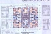 Giảm 300 triệu, bán gấp CHCC tòa Sông Đà, số 125 Trần Phú, 154,3m2 3PN, 2WC. Giá chỉ 17,2 tr/m2