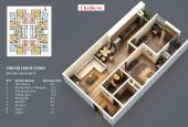 Bán căn hộ chung cư 75.5 m2, 2 PN, 2 WC, khách liền bếp, dự án The Pride Hà Đông, Hà Nội