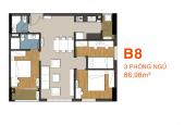 Bán lại B8 tầng 15, 86.98m2, 3pn, quận 9, 9 View
